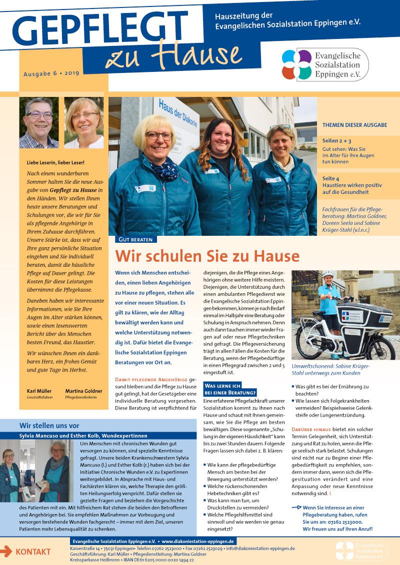 """""""Gepflegt zu Hause"""" Hauszeitung 2019-06"""