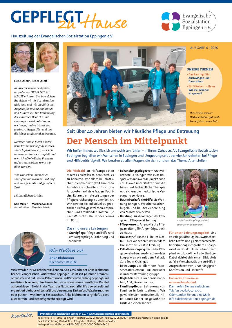 """""""Gepflegt zu Hause"""" Hauszeitung 2020-06"""