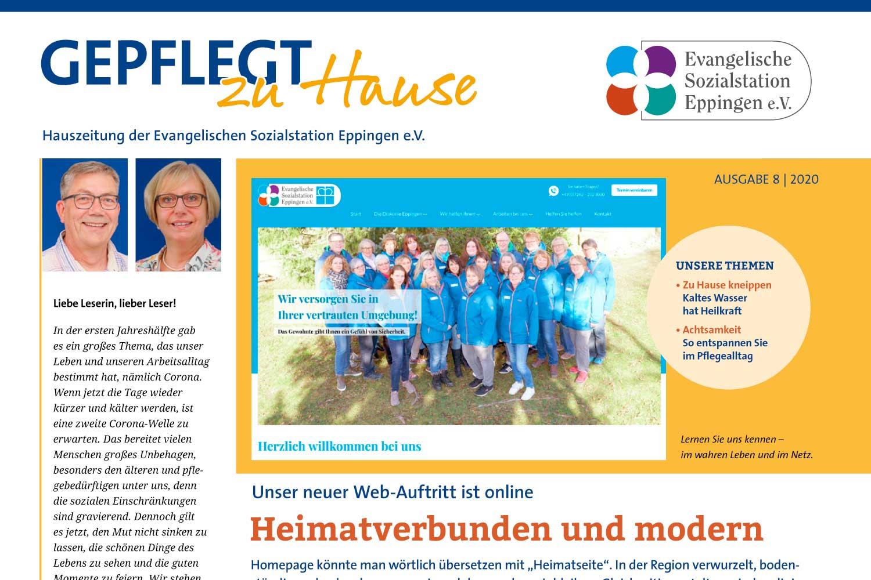 """""""Gepflegt zu Hause"""" Hauszeitung 2020-8"""